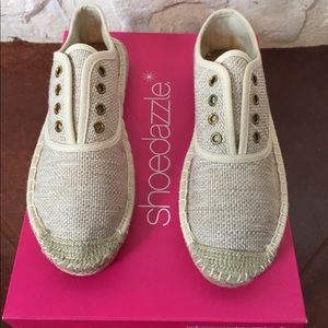 CUTE! Espadrille style slip on tennis shoes!