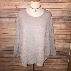 Soft Gray Textured Sweater