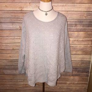 Soft Gray Textured Sweater