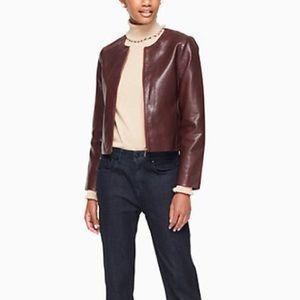 Raw Edge Leather Blazer