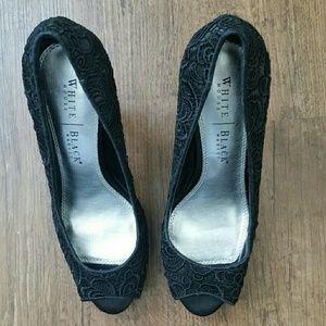 White House Black Market Black Lace Heel