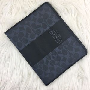 🆕IPad 1st Gen Coach Signature Blue Leather Case
