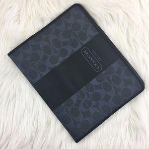IPad 1st Gen Coach Signature Blue Leather Case