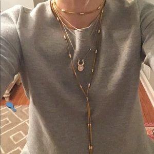 Free people never worn yellow layered necklace