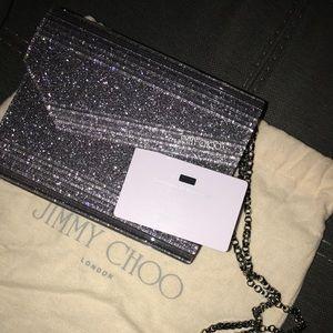 Jimmy Choo silver candy clutch