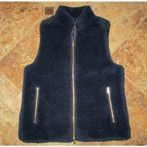 Jcrew fleece vest (navy)