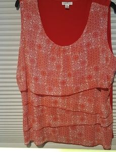NWOT Jaclyn Smithred 3x floral top