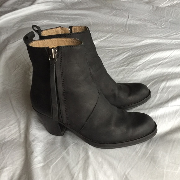 91f339ced1b ACNE STUDIOS Pistol Black Leather Ankle Boots $570