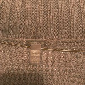 Gray Sweater Cardigan 3/4 Sleeves