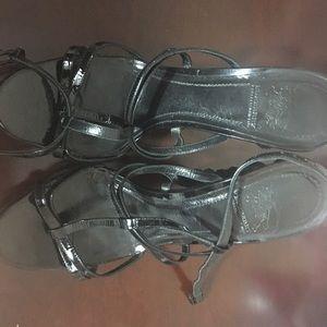 An high end designer Burberry black sandals