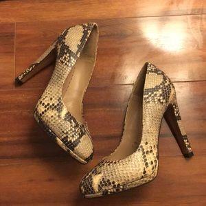 Zara Faux Python Pumps Heels size 36