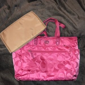 Coach nylon diaper bag