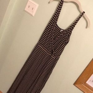 Old Navy faux wrap front striped maxi dress