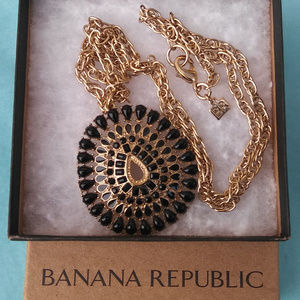 Banana Republic Black and Gold Necklace