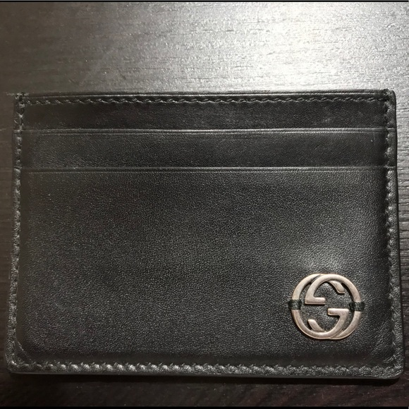 63d288288ed9 Gucci Accessories | 100 Leather Mens Card Holder | Poshmark