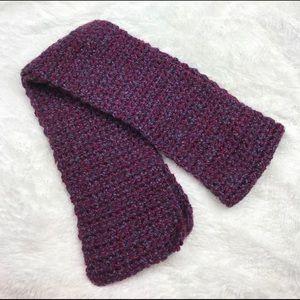 🌺SALE {Handmade} purple Pink Crochet Knit Scarf