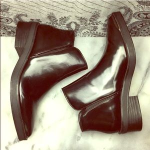 Zara Basic Collection Patent Chelsea Ankle Boots