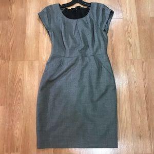 J Crew Italian wool short sleeve suit dress