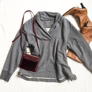 LL Bean Perfectly Worn-In Grey Sweatshirt