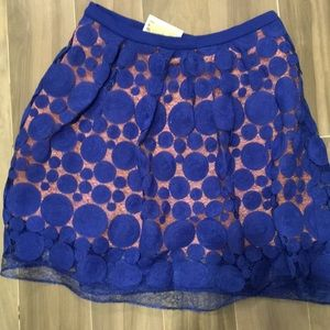 NWT Anthro Blue detailed skirt