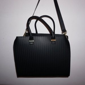 h&m black satchel travel bag