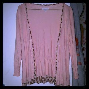 New York & Company Pink Sweater/Cardigan