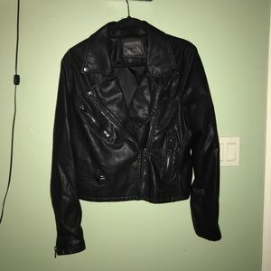 Blank NYC Faux Distressed Leather Jacket