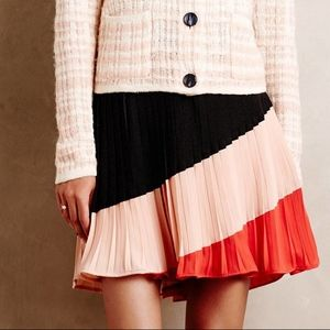 ANTHROPOLOGIE Sian mini skirt/side zip/NWT