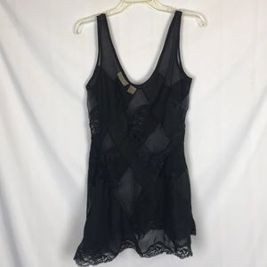 Victoria's Secret Black Lace Slip nightie small