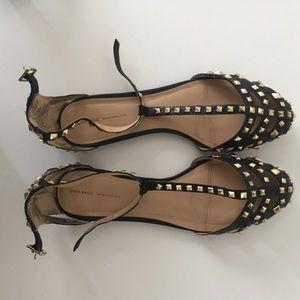➖zara studded sandals flats➖
