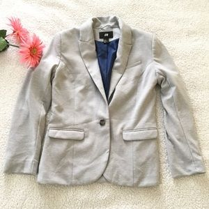 {New In} H&M Gray Blazer Size 10