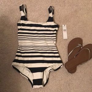 DKNY striped bathing suit