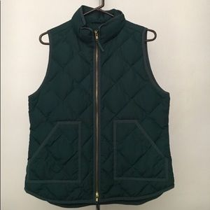EUC J Crew Forest Green Vest size Small