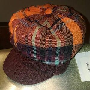 "NWY, Plaid Pageboy ""Cabbie"" Hat"