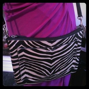 Coach Zebra Print Crossbody