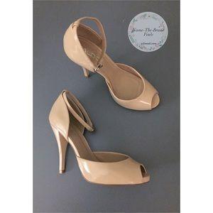 Aldo Women's Ankle Strap Nude Open toe Heels
