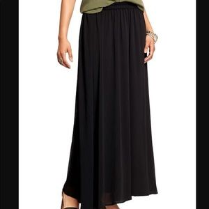 Old navy black maxi skirt S