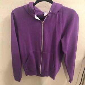 American Apparel Purple Flex Fleece Hoodie