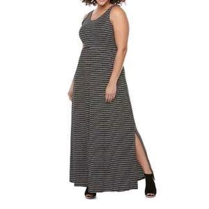 "So Juniors Striped Maxi Dress 31-33"" Chest Small"