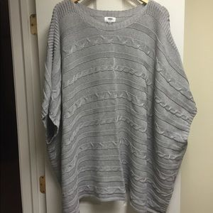 Old Navy Gray Oversized Poncho