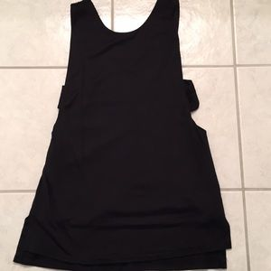 Black tank top with side cutout