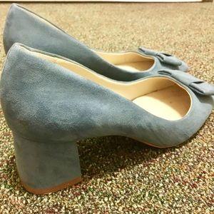 Zara Greyish-Blue Suede Heel, 2017 Collection