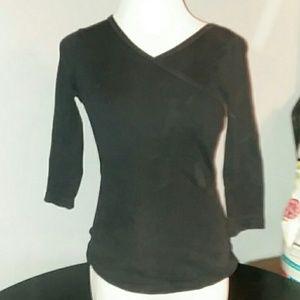 Michael stars  black 3/4 sleeve