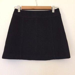 Zara dark gray black cashmere flare mini skirt