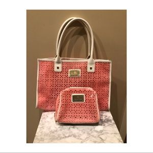 Trina Turk Catalina Tote and cosmetic case