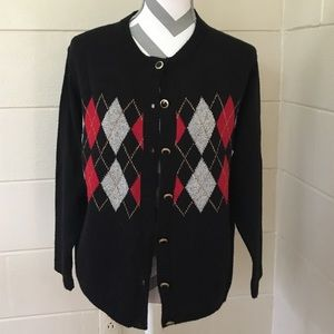 Alfred Dunner Holiday Cardigan
