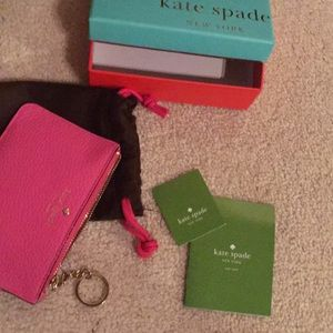 New! box&tags- Kate spade large leather wristlet.
