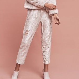 Anthropologie Sequined Joggers