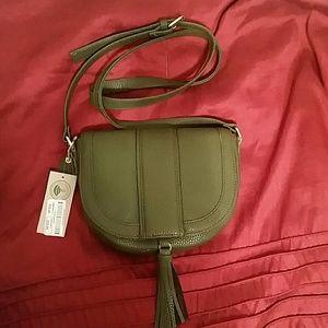 BNWT Clark's olive green purse