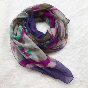 🌺SALE {Target} Brown Purple Abstract Sheer Scarf